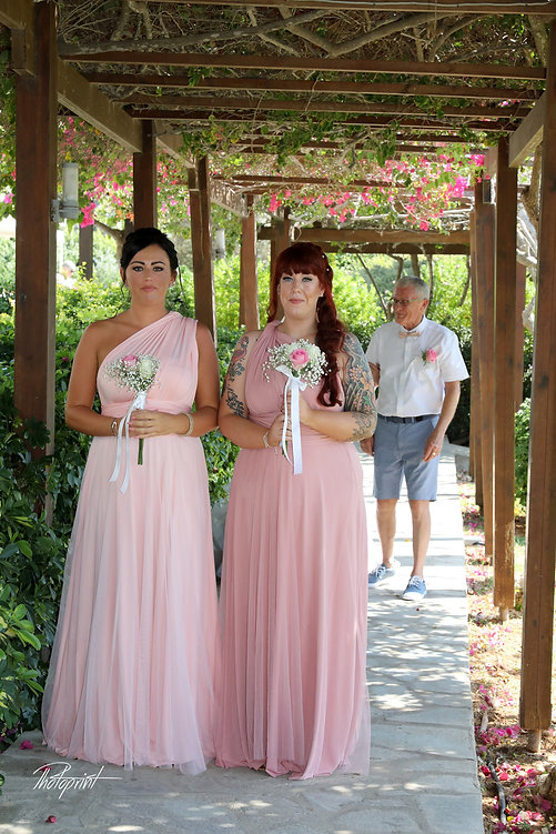 Family, guests, bride wedding photo before the wedding ceremony at the Nissi beach Hotel in Agia napa | wedding photography in Nissi beach best weddings