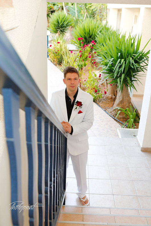 The groom awaits the bride for the wedding | married in paphos municipality cyprus, photographer in Paphos, cyprus wedding photographer paphos, cyprus wedding photographers Paphos