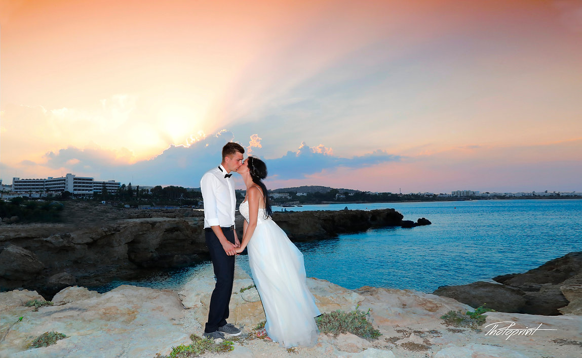 Romantic couple lovers holding hands, beach sunset at Protaras wedding photography in Protaras best weddings, Bespoke wedding pictures ideas cyprus