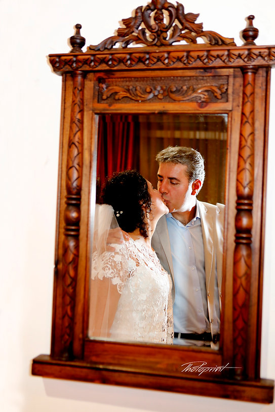 Wedding celebration, bride and groom Kissing indoors at municipality after the wedding | Wedding Venues in Cyprus for lebanese