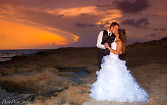 Sunset Photo shoot by the beach ayia napa  | I offer Wedding photography packages designed to cover a range of budgets and preferences . Our affordable wedding photography packages offer excellent value for your wedding