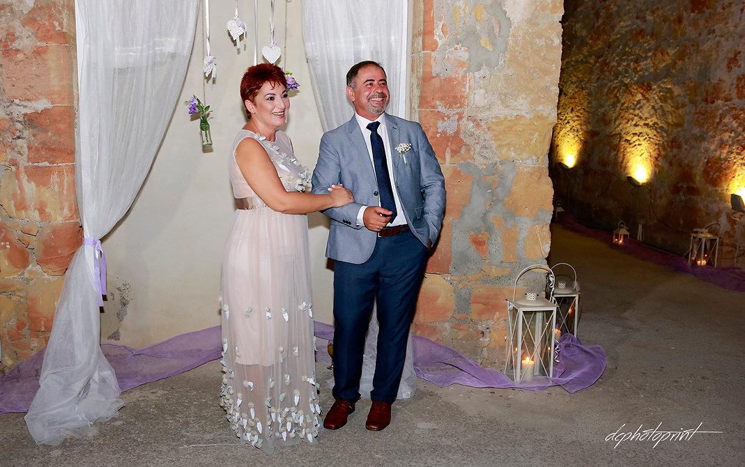 Wedding couple enjoying romantic moments outdoors | cyprus dream wedding photography paphos, cyprus wedding photography best prices