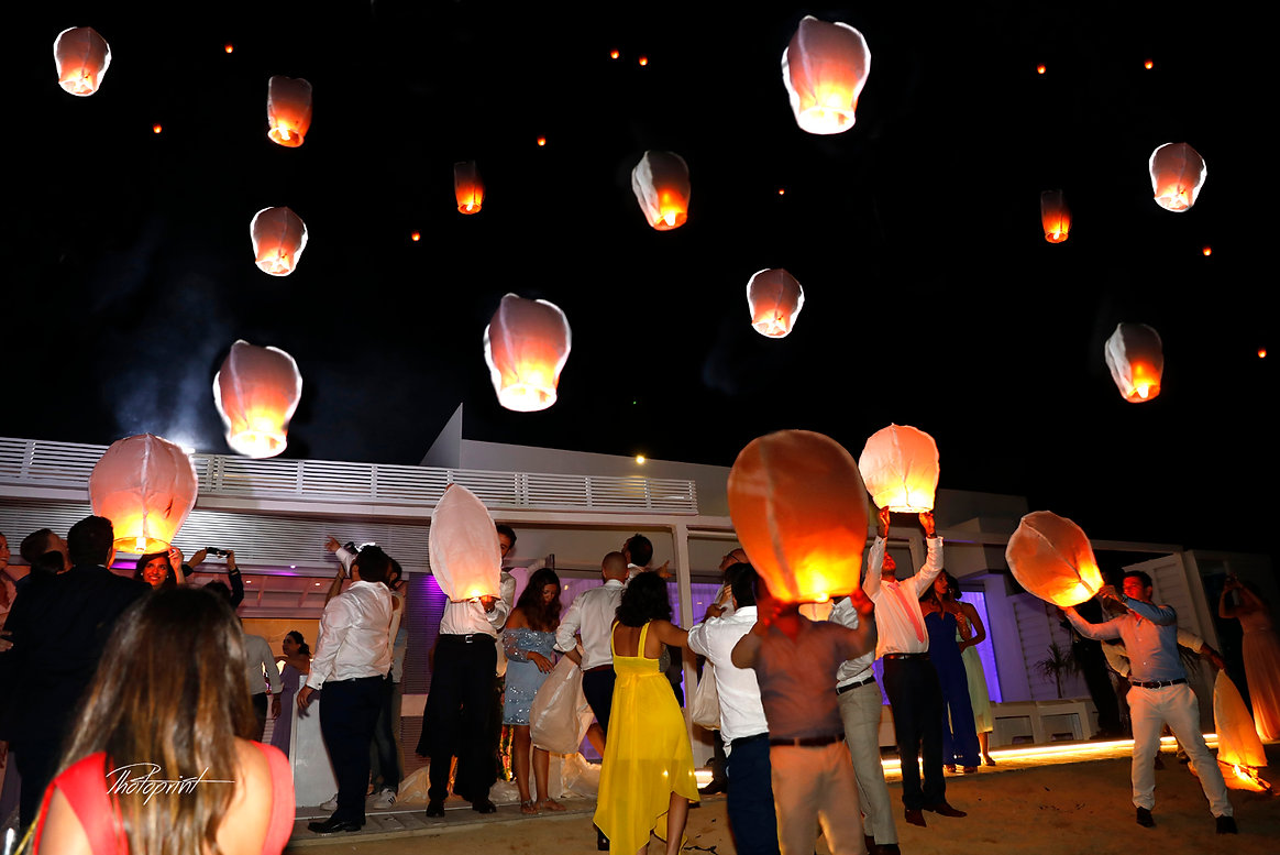 Hundreds illuminated balloon drifts across the Larnaca night sky at Serge and Sabine's wedding party  |  cyprus wedding photographers, Bespoke lebanese wedding pictures ideas in Larnaca cyprus