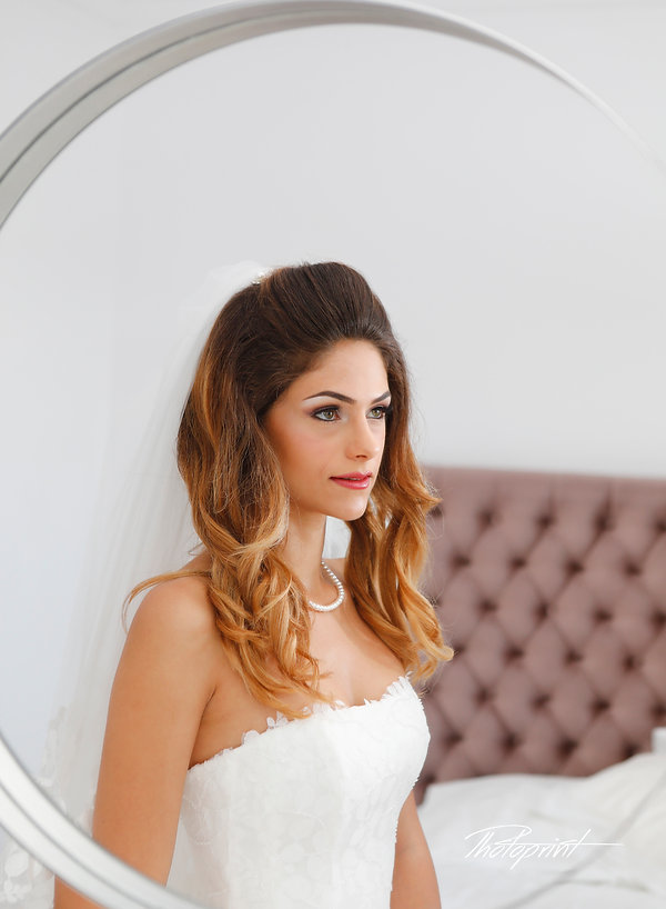 amazing photo with a bride through a mirror before the wedding | cyprus wedding Protaras photography best prices | wedding protaras venues cyprus, cyprus wedding Protaras photography best prices, protaras beach hotel wedding photography