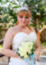 Happy brunette bride Close-up portrait of gorgeous beautiful bride in white dress with amazing hair style and make up | photographers in paphos weddings, cyprus wedding photographer prices