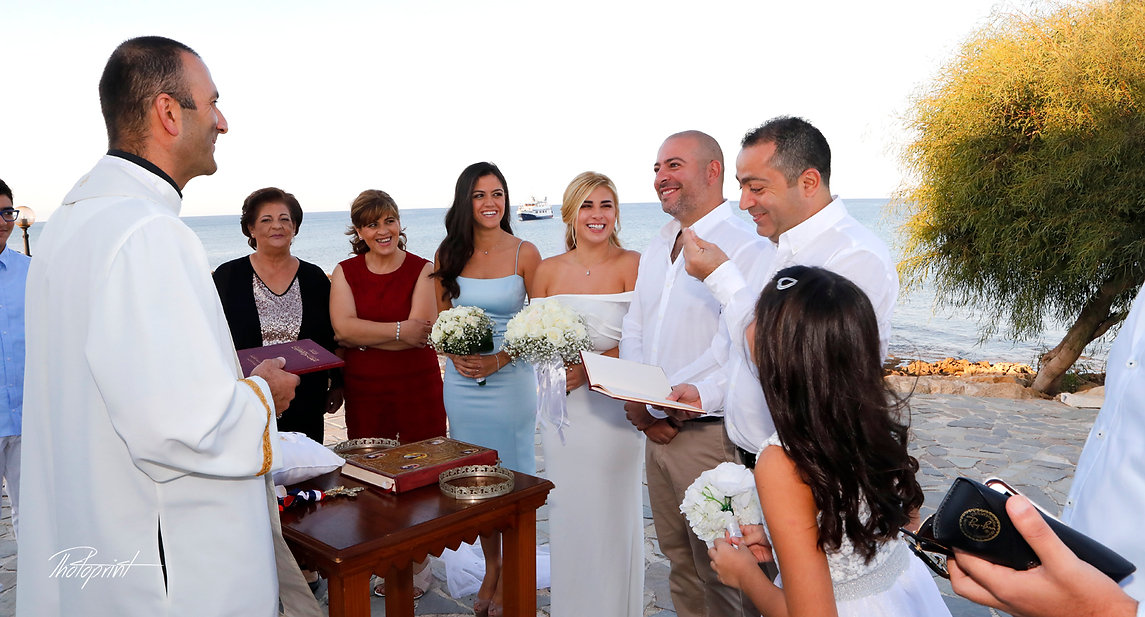 Beautiful and gentle wedding ceremony photo session at Ayios nicolaos church in Protaras, cyprus | wedding protaras photography cyprus, wedding protaras photographers