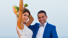cyprus wedding photographers - Larnaca beach wedding photography