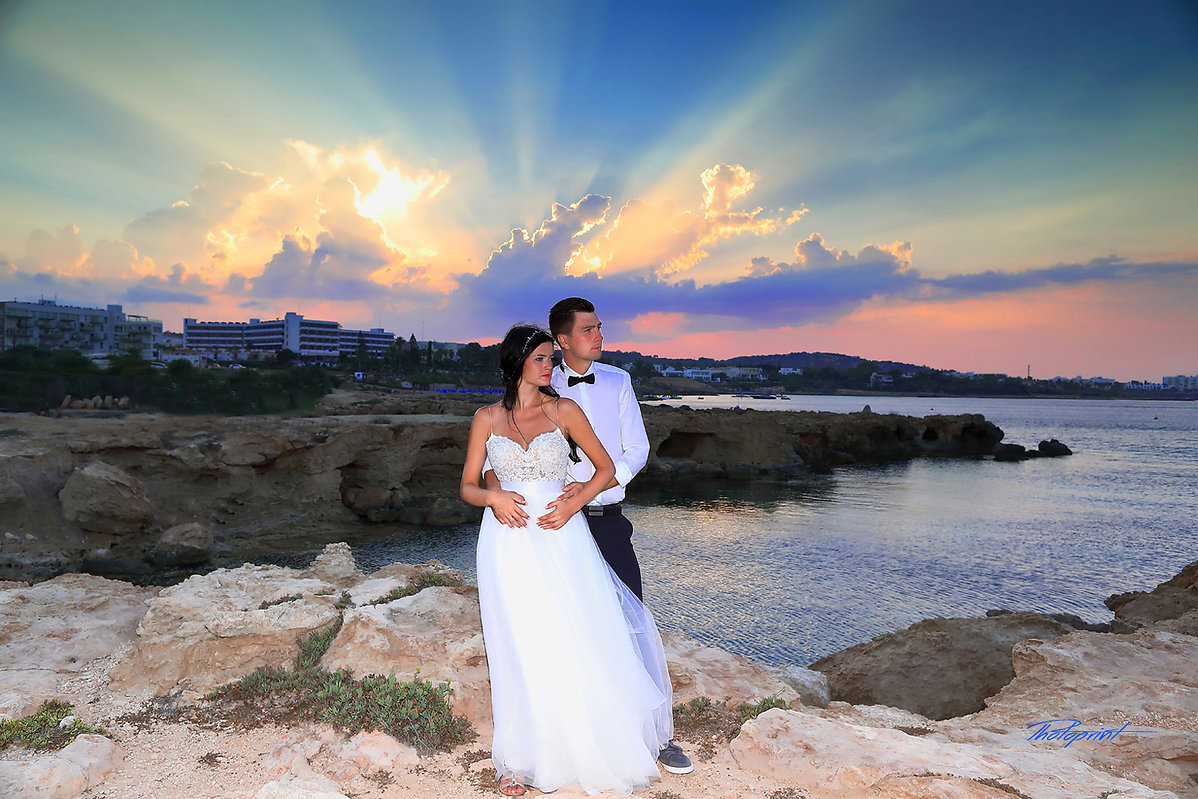 Kamil and Izabela's Beautiful Wedding took place in POLAND and the Amazing photoshooting  by the beach took place in Cyprus at PROTARAS area | cyprus wedding photographers protaras, photographers in protaras