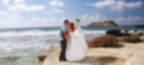 Bride and Groom, Kissing at Sunset on a Beautiful Tropical Beach | wedding photography ceremony in Paphos town hall, wedding photography ceremony in Paphos town hall