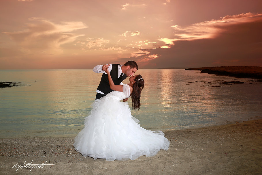 One of the most beautiful sunset I have ever seen - Bride & Groom Gallery Cyprus Wedding Photographer | Photo shoot by the Beach ayia napa