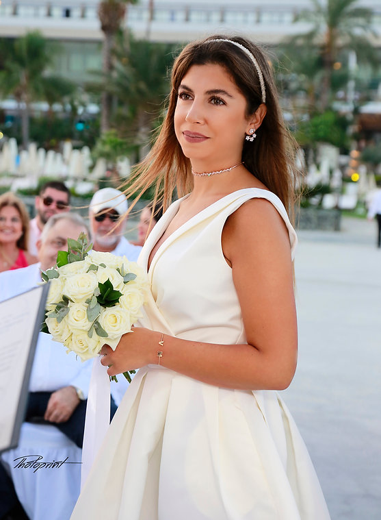 Portrait of beautiful bride in Wedding dress  during the wedding ceremony | best wedding photographer in Limassol cyprus, wedding photography ideas limassol