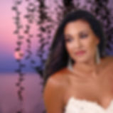 The young and gorgeous bride smiles and the sunset is amazing, colorful |  ayia napa town hall best pics photographer ceremonies cyprus, wedding in ayia napa town hall cyprus