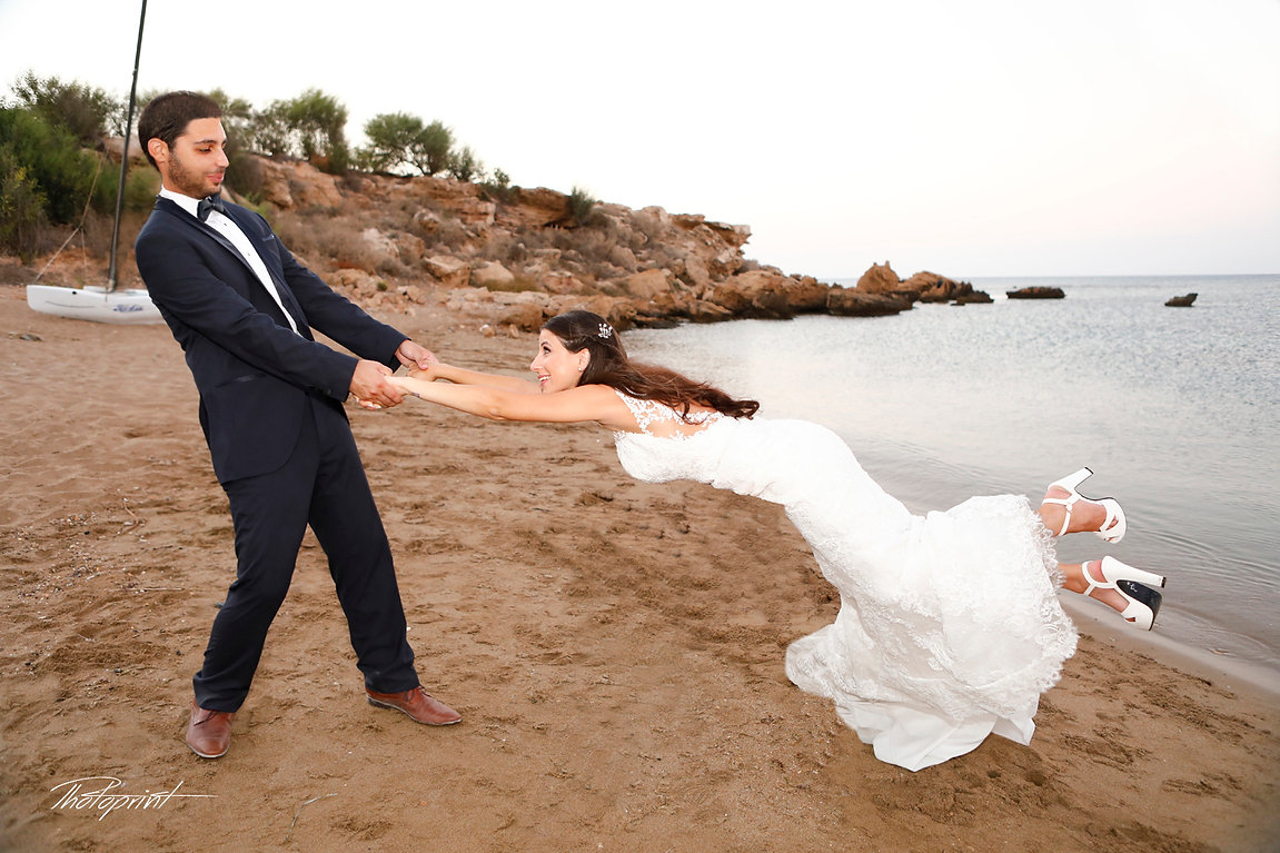 Flying bride in white dress | getting married in Hotel protaras cyprus, Protaras wedding photographers, Protaras wedding venues in cyprus