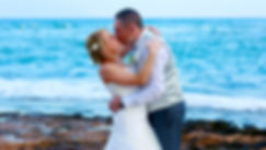 Bride and Groom, Kissing at Pernera beach Hotel on a Beautiful Mediterranean Beach Protaras | wedding photographer protaras, professional wedding photographer protaras cyprus