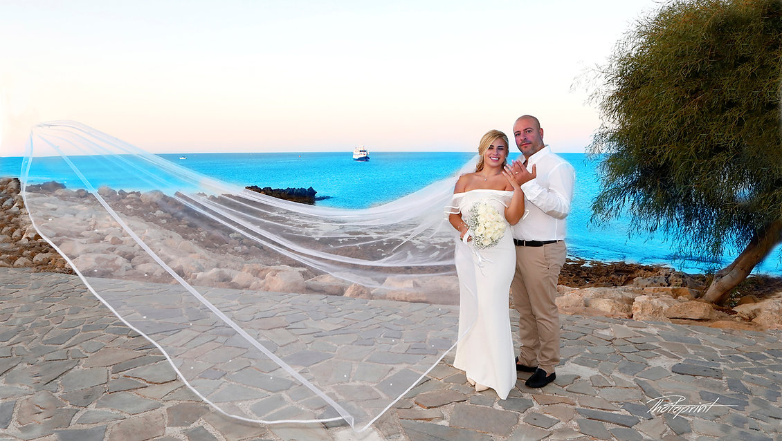 Tony and Greta's  Wedding from Lebanon in Amazing Photo Shooting  at  Ayios Nicolaos church in Protaras, Cyprus