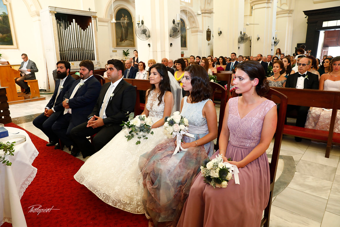 Wedding ceremony inside of the  beautiful  church of St Mary of Graces Catholic Larnaca, Cyprus | wedding pictures ideas of lebanese bride and groom in Larnaca cyprus, Larnaca wedding photographers