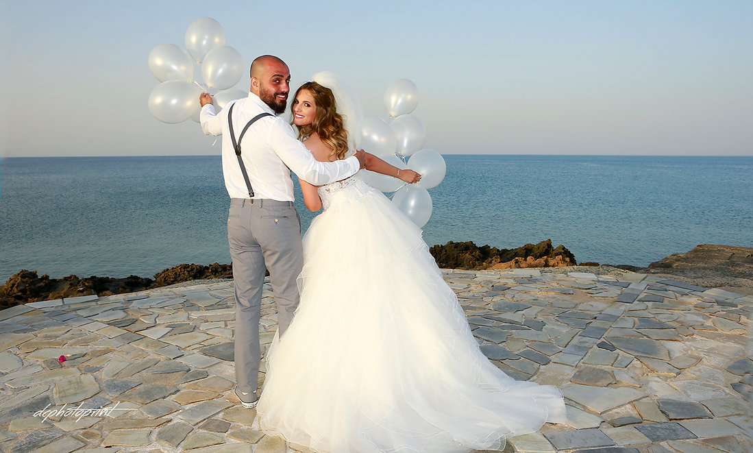 Find all the info you need to plan a perfect wedding photography Here | Best wedding photography at the Aphrodite Beach Hotel Paphos, Cyprus