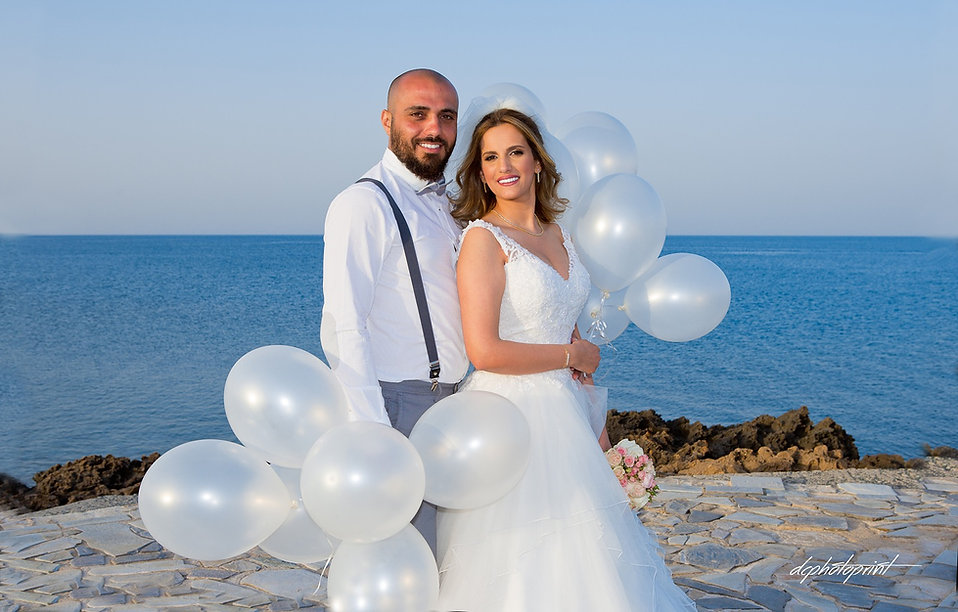 Happy just married young wedding couple celebrating  after wedding - wedding portfolio