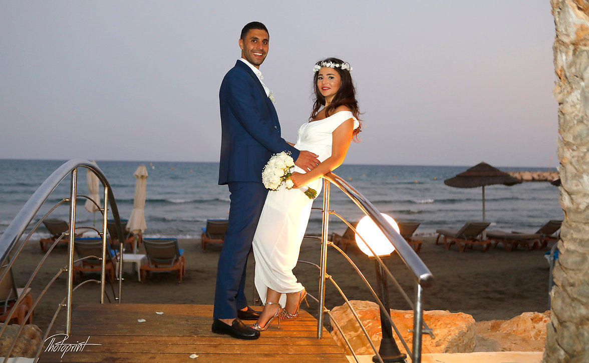 Elie and Stephanny's  Wedding from Lebanon in Amazing Photo Shooting by the beach at GOLDEN BAY BEACH  Hotel, Larnaca Cyprus | photographers in larnaca, larnaca photographers town hall cyprus, larnaca photographer for town hall cyprus