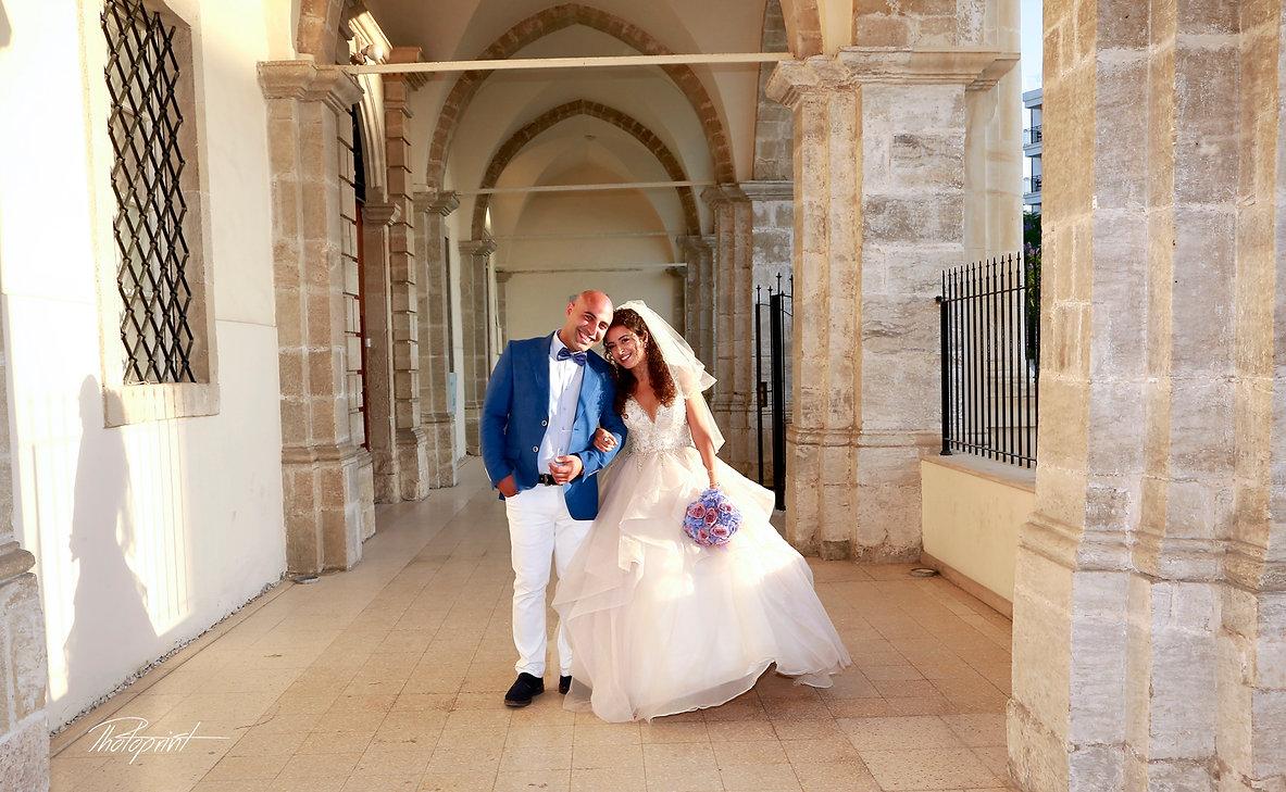 Happy couple before the wedding ceremony | larnaca civil weddings photographers, larnaca municipality civil marriage, larnaca municipality civil wedding