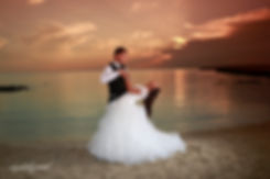 Bride and Groom,Kissing at Colorful sunset over the Beautiful Mediterranean sea at ayia napa, cyprus  | married in ammos tou Kampouri cyprus