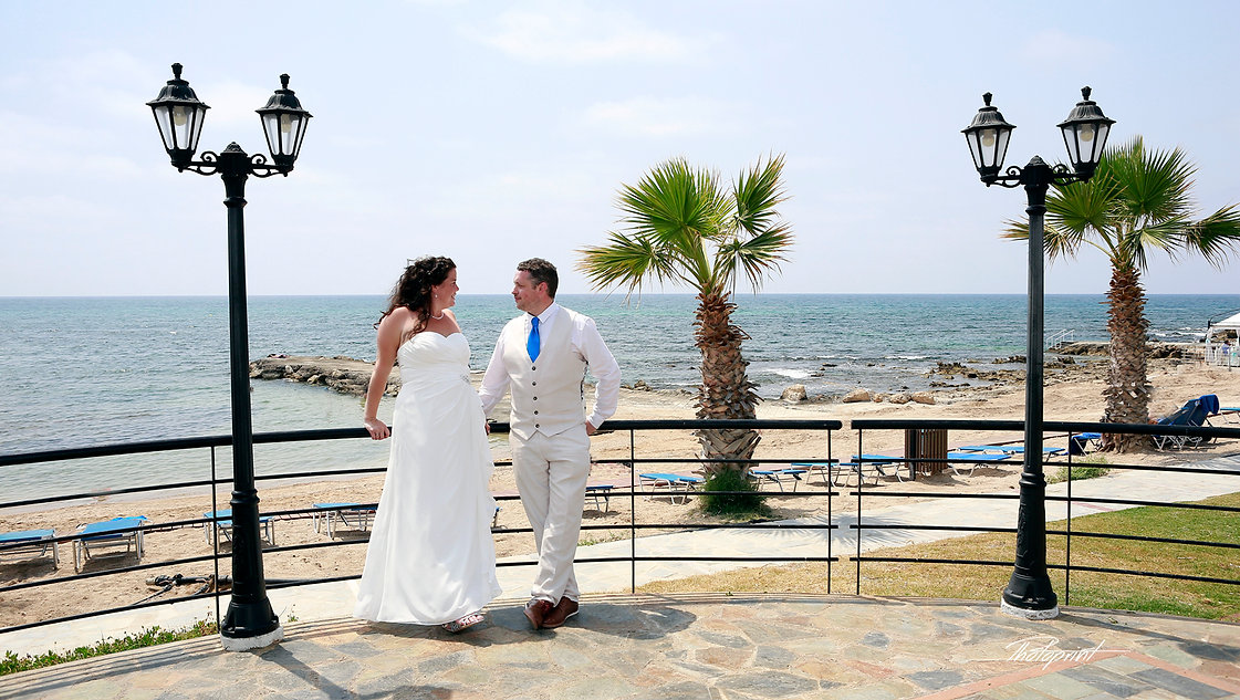 Portrait of beautiful Just married couple after the wedding ceremony in Paphos, cyprus | cyprus wedding photographers yeroskipou cyprus, civil weddings in Geroskipou, wedding in Geroskipou municipality