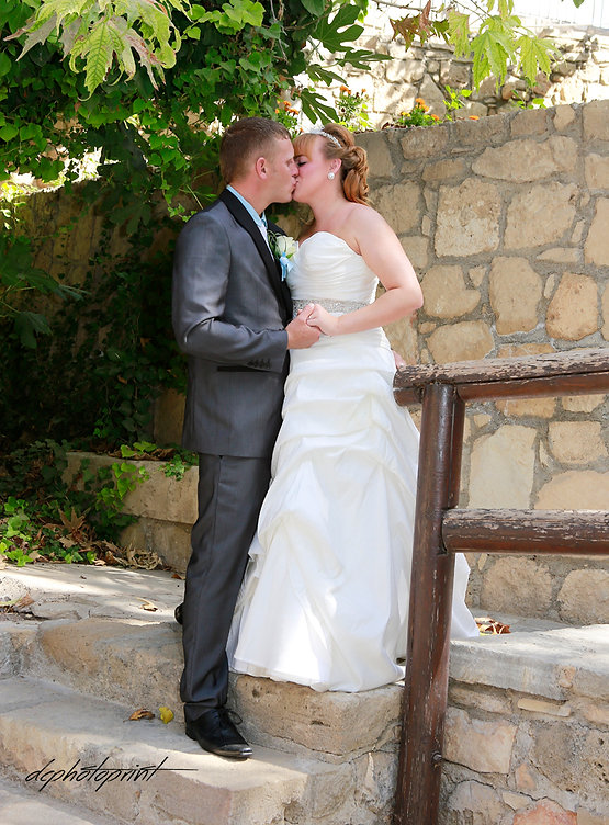 Portrait of beautiful Just married couple after the wedding ceremony Kissing after wedding | cyprus budget wedding photographer in Paphos, cheap wedding photography cyprus