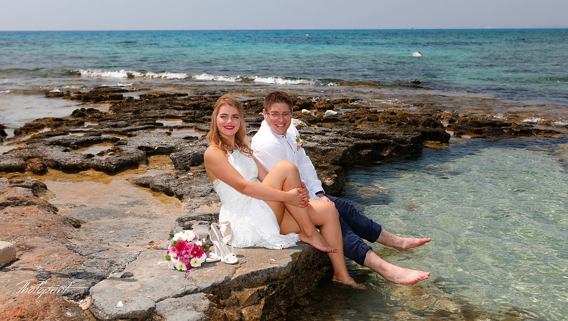 Beautiful and gentle wedding photo session outdoors of the elegant couple | professional wedding photographers ayia napa,ayia napa wedding cyprus, wedding in ayia napa cyprus