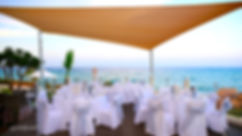 photo of wedding reception at Pernera beach Hotel in Protaras before the party | photographers in protaras, best wedding venue protaras