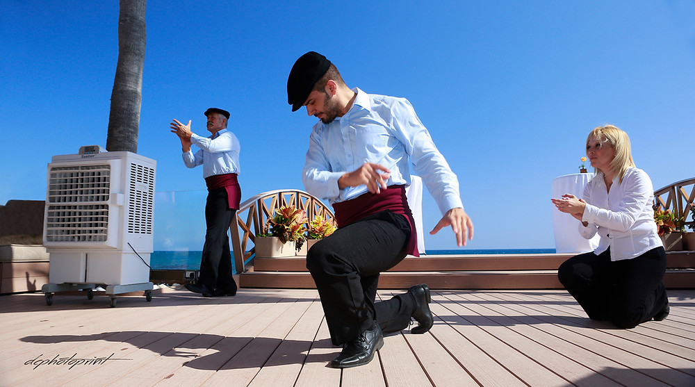 wonderful photo shooting of the dance group Zorbas the Greek at the Daniel and Rebecca's wedding at AMATHUS BEACH HOTEL, Limassol Cyprus