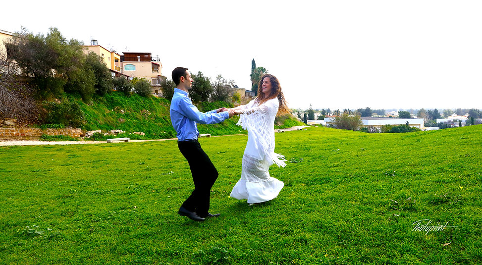 Newlywed Couple Having Fun Outdoors after the wedding at Geroskipou, Paphos