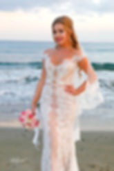 Gorgeous bride in wedding dress with bouquet of flowers posing |  Larnaca Town Hall - Cyprus Beach Weddings, Larnaca town hall - cyprus beach weddings photography, Larnaca photographer for civil wedding larnaca hotel wedding photography