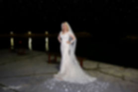 Gorgeous blonde bride on Limassol sea beach without, Waves outdoors under starry sky at Amathus Beach Hotel, Limassol | wedding venues photography limassol, cyprus wedding venues photographers limassol