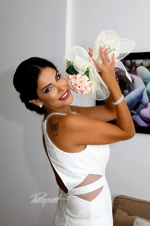 Portrait of beautiful young bride. Ayia napa images wedding photography
