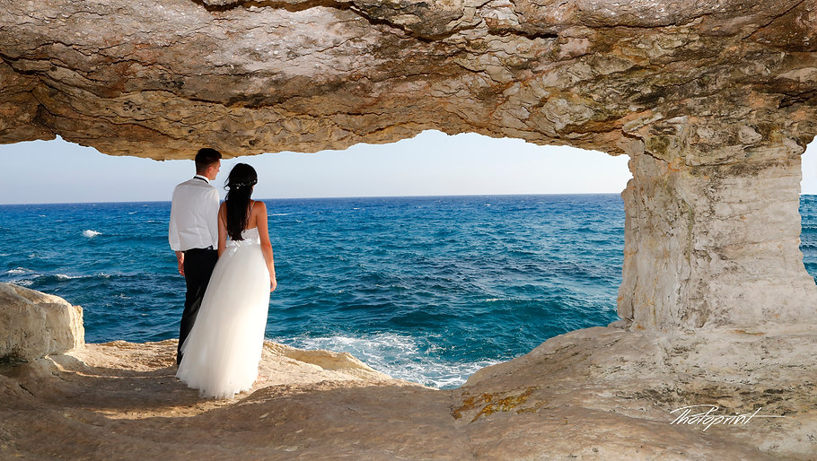 Couple in love in the Gavo Greco beach near Ayia napa | ayia napa town hall ceremonies, town hall ayia napa best wedding photographer photography