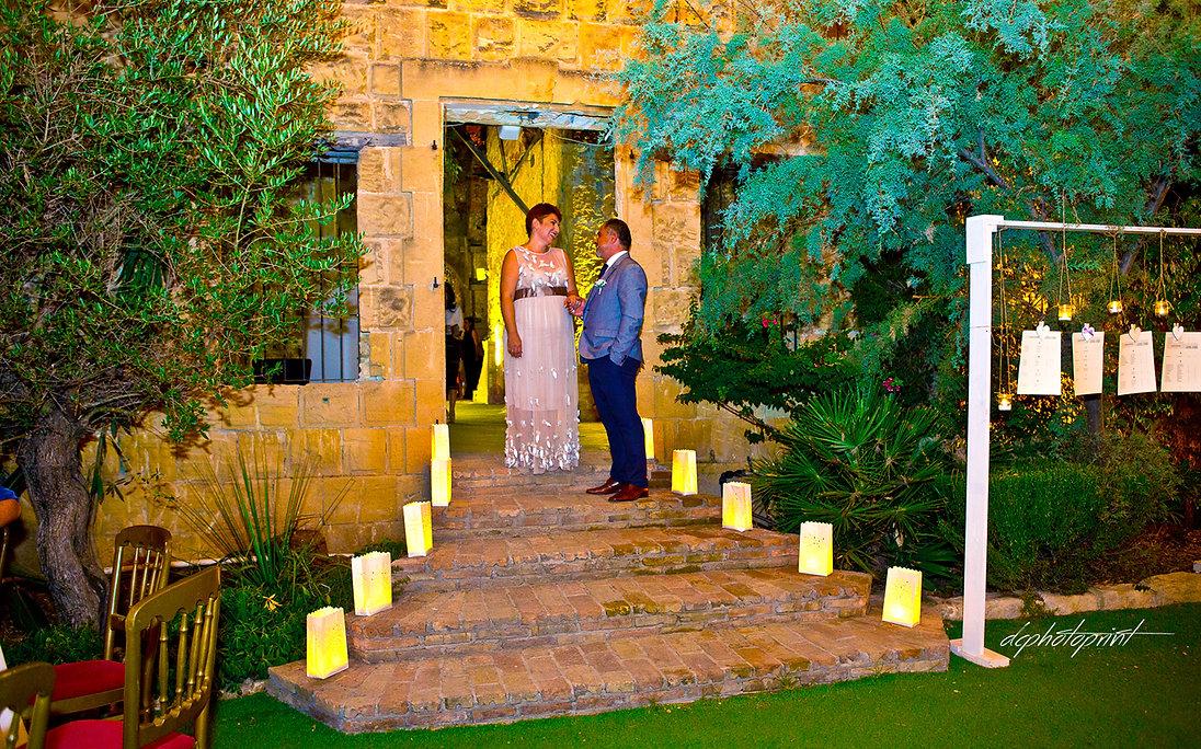 Wedding couple enjoying romantic moments outdoors at night | wedding ayia napa photographer photography, wedding ayia napa photographers