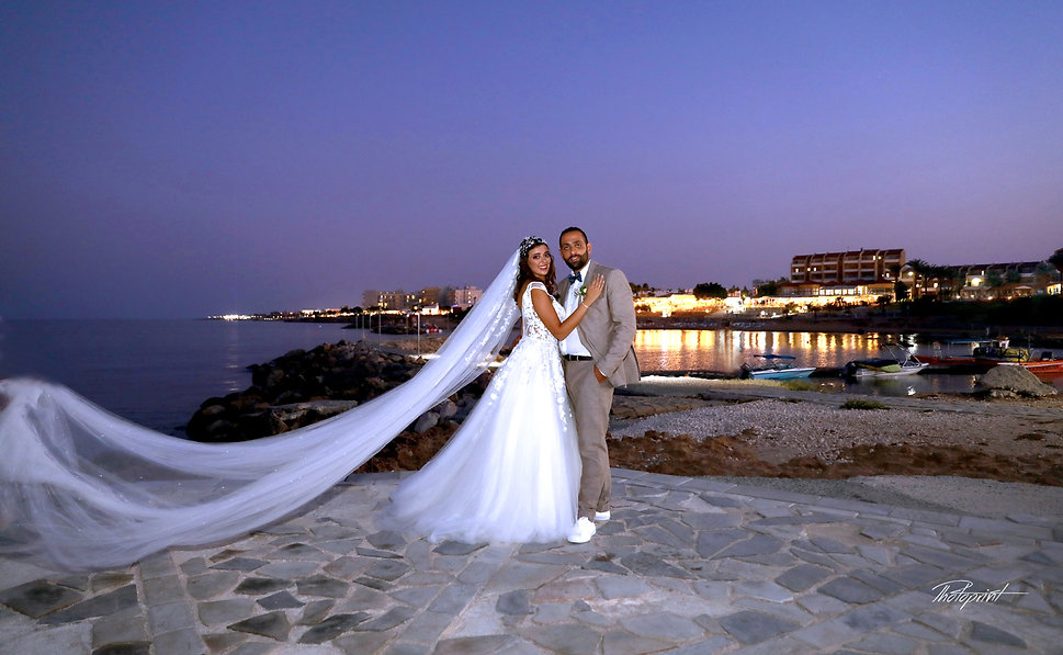 Bride and groom on beach after the wedding | photography prices cyprus