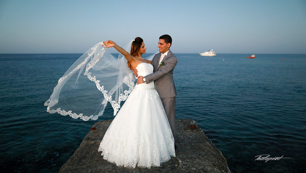 Wedding couple holding hands on sunset | wedding photographers prices |  cyprus bridal photographer, cyprus bridal photography,wedding  photographer packages in cyprus