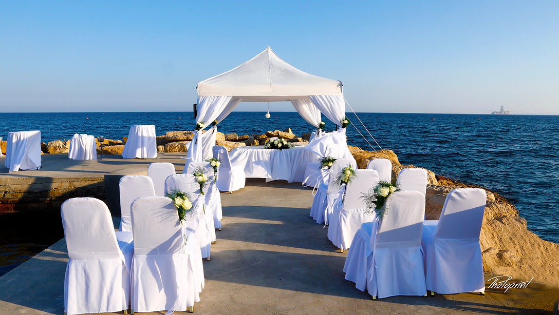 Wedding Kiosk in AMATHUS BEACH HOTEL, Limassol, decorated with flowers in Beautiful wedding set up , outdoor  | wedding photo ideas Limassol cyprus, Limassol photographers cyprus