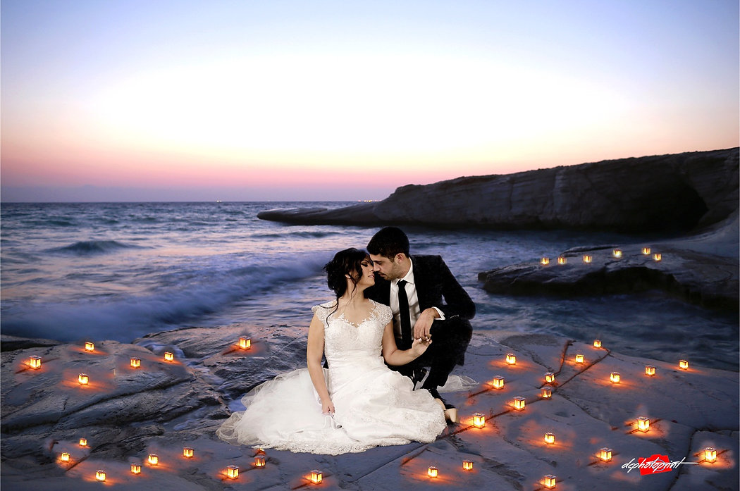 Michael and Maria's Stunning and imaginative Wedding photographs at  Paphos, by the most romantic sunset in cyprus | cyprus wedding photography prices and packages, cyprus wedding photographer