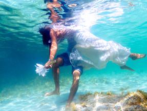 cyprus wedding photography - Underwater wedding photography