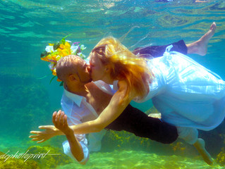underwater wedding photographer in ayia napa cyprus