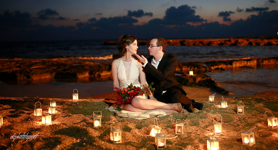 Couple in love in the beach on Mediterranean sea | paphos beach hotel wedding photography, civil paphos wedding photography