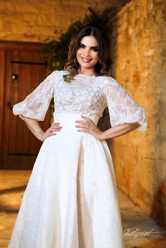Gorgeous bride with dark hair wears elegant wedding dress | yermasoyia best wedding photographer photography, yermasoyia wedding photography