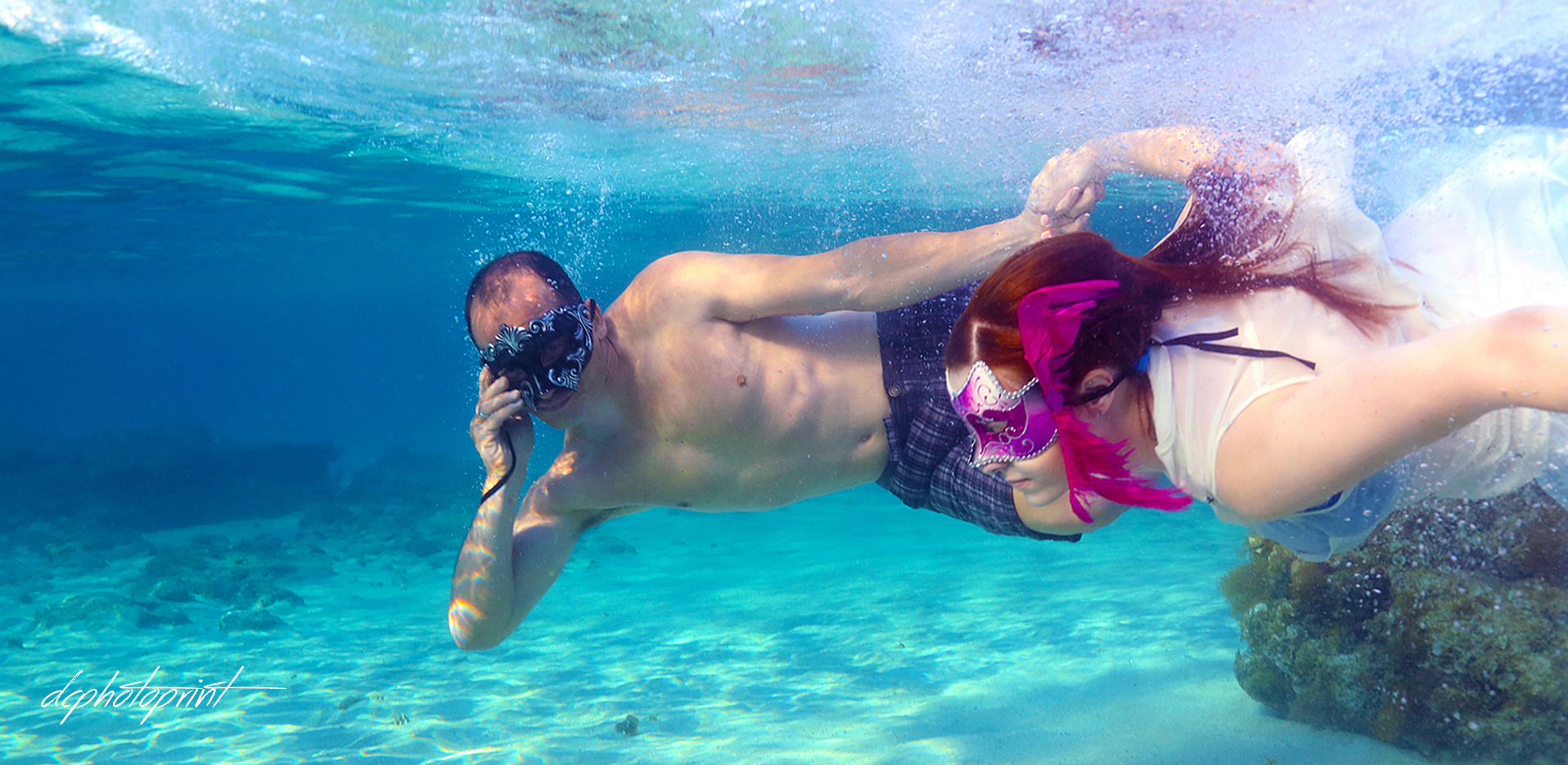 pictures underwater wedding cyprus