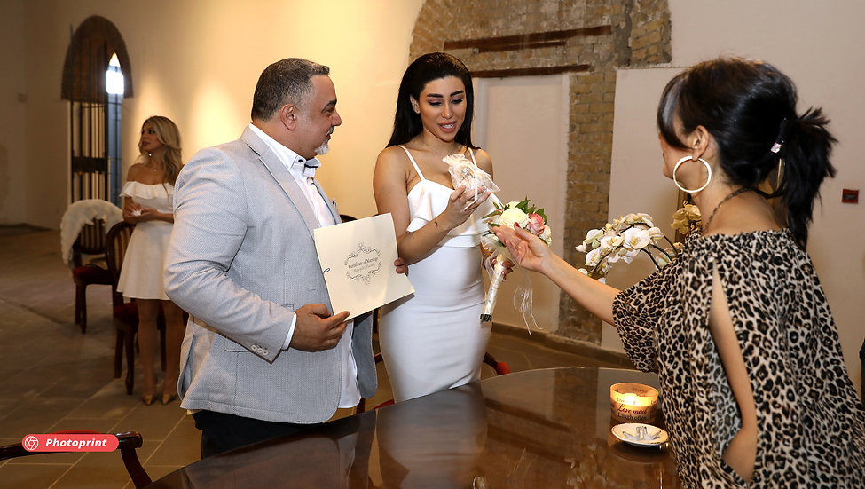 Happy bride and groom | wedding photographers peyia cyprus