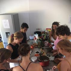 kimbap making