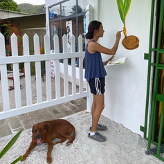 painting Koko Zerm with Hunter