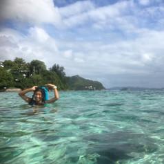 wading between islands