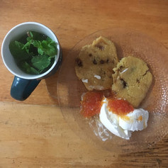confiture papaye cookies mint tea